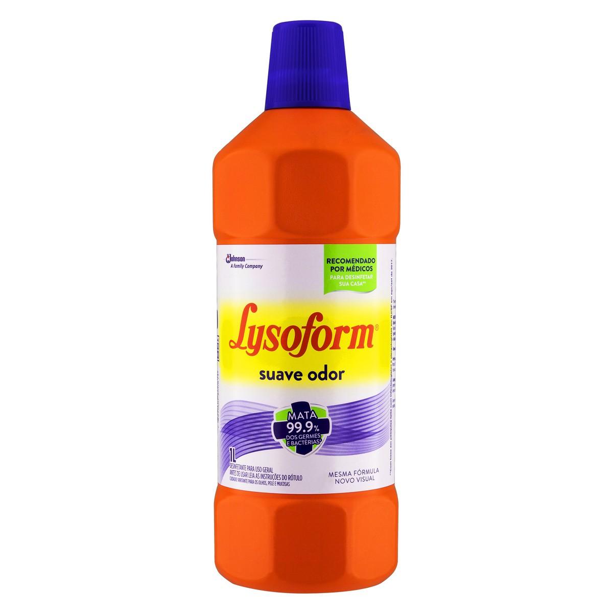 Desinfetante Lysoform Bactericida 1L Suave - Redijohn