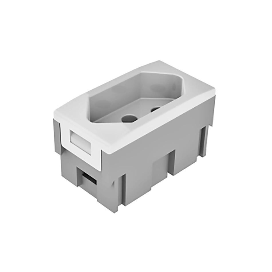 Conjunto de Tomada de Energia 1 Modulo 2P T 10A Branco - Dutotec
