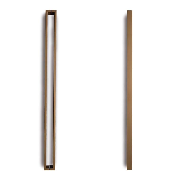 Puxador de Portas Caua Sobrepor Aco Inox 202cm 01 Par Bronze - Acobrasil