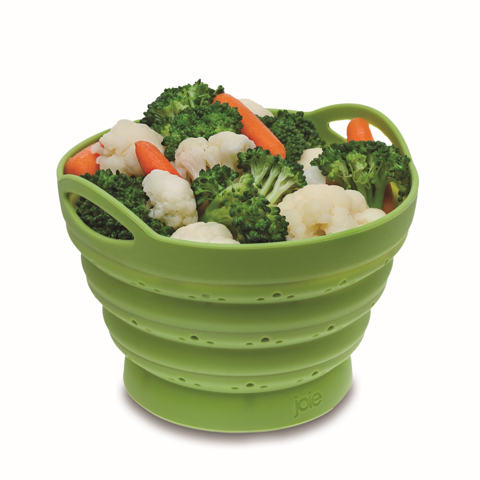 Escorredor de Silicone para Legumes 15x10 cm Verde - Hudson