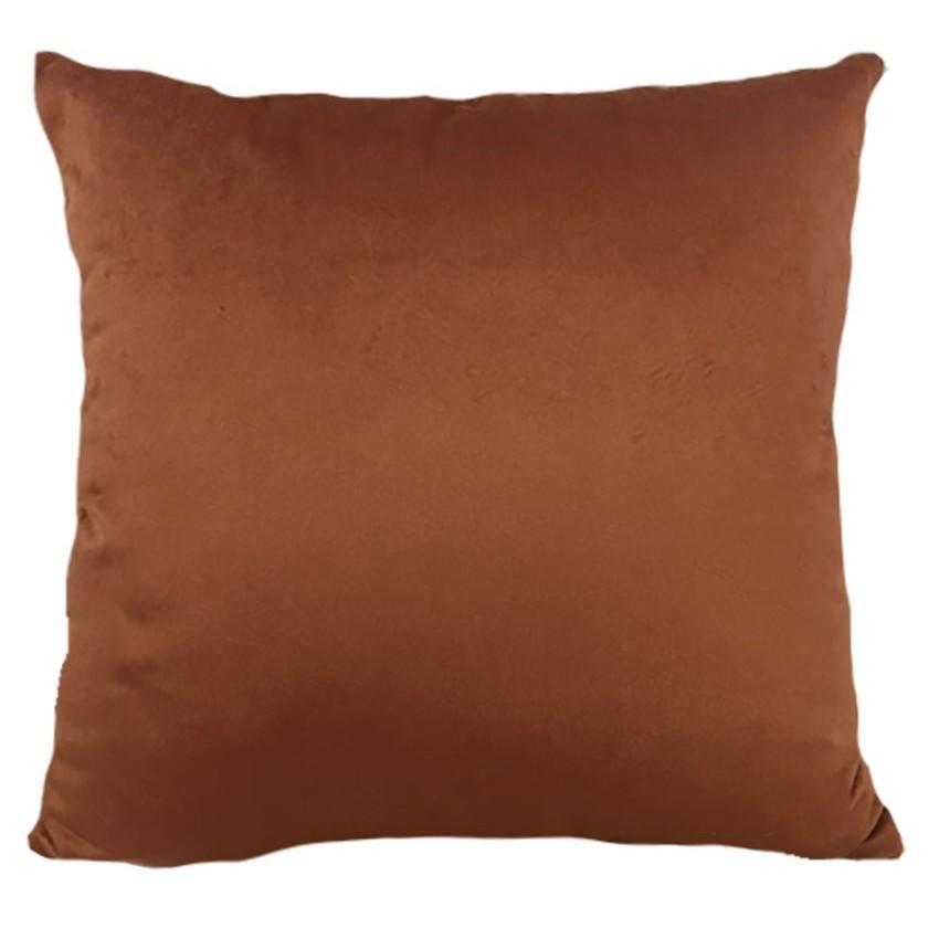 Almofada 52x52 cm Soft Liso Ocre - Decortextil