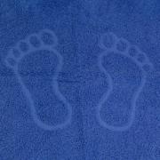 Toalha de Piso Chevron 50x60 cm 100% Algodão Azul - Marcotex