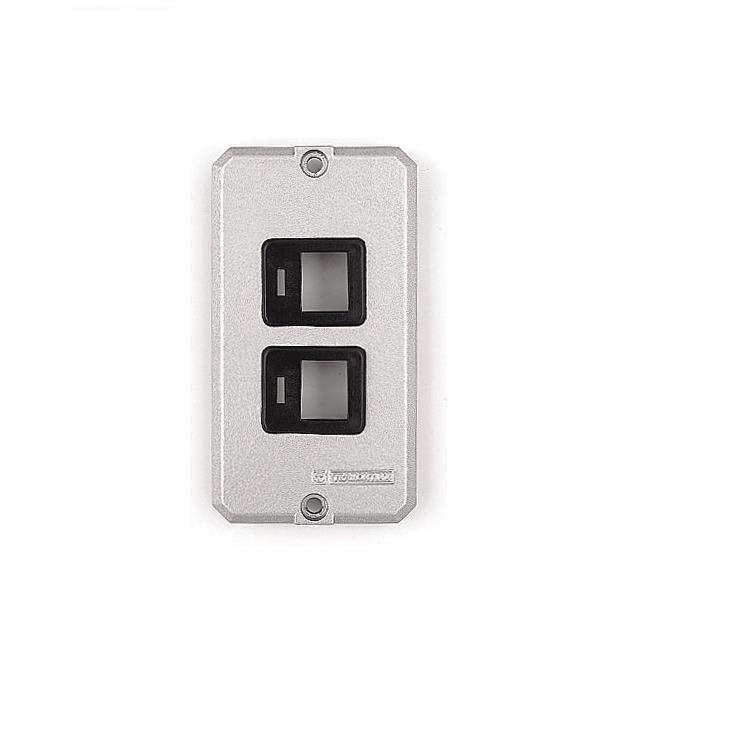 Placa de Aluminio para Caixa Eletrica 12- 34 - 2 Postos com Suporte para RJ - 56115016 - Tramontina