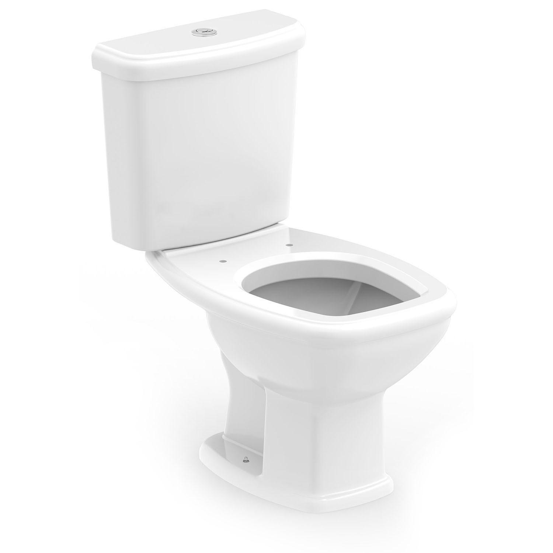 Bacia Sanitaria com Caixa Acoplada Fit Plus 36L Branca - Roca Loucas