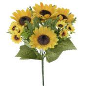 Buquê Artificial de Flor Girassol 30 cm - Dea