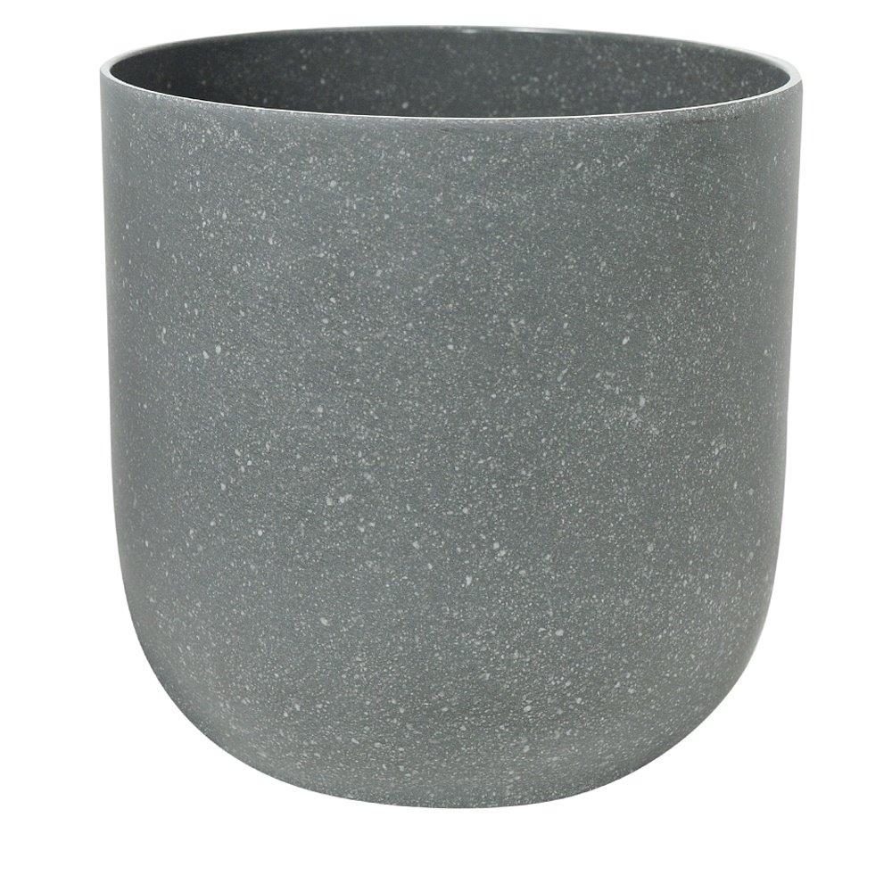Vaso Decorativo de Plastico Cinza Redondo 2001 - Dea