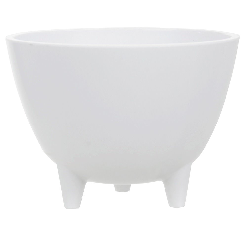 Vaso Decorativo de Plastico Branco Redondo 3001 - Dea