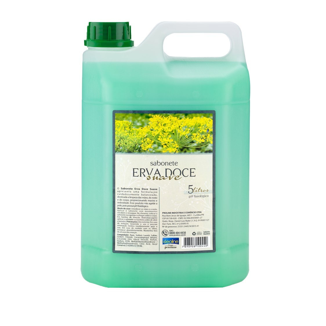 Sabonete Liquido Erva Doce Deoline 5L - Premisse