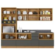 Cozinha Completa Itatiaia 5 peças com Tampo em BP Inova - Grafite