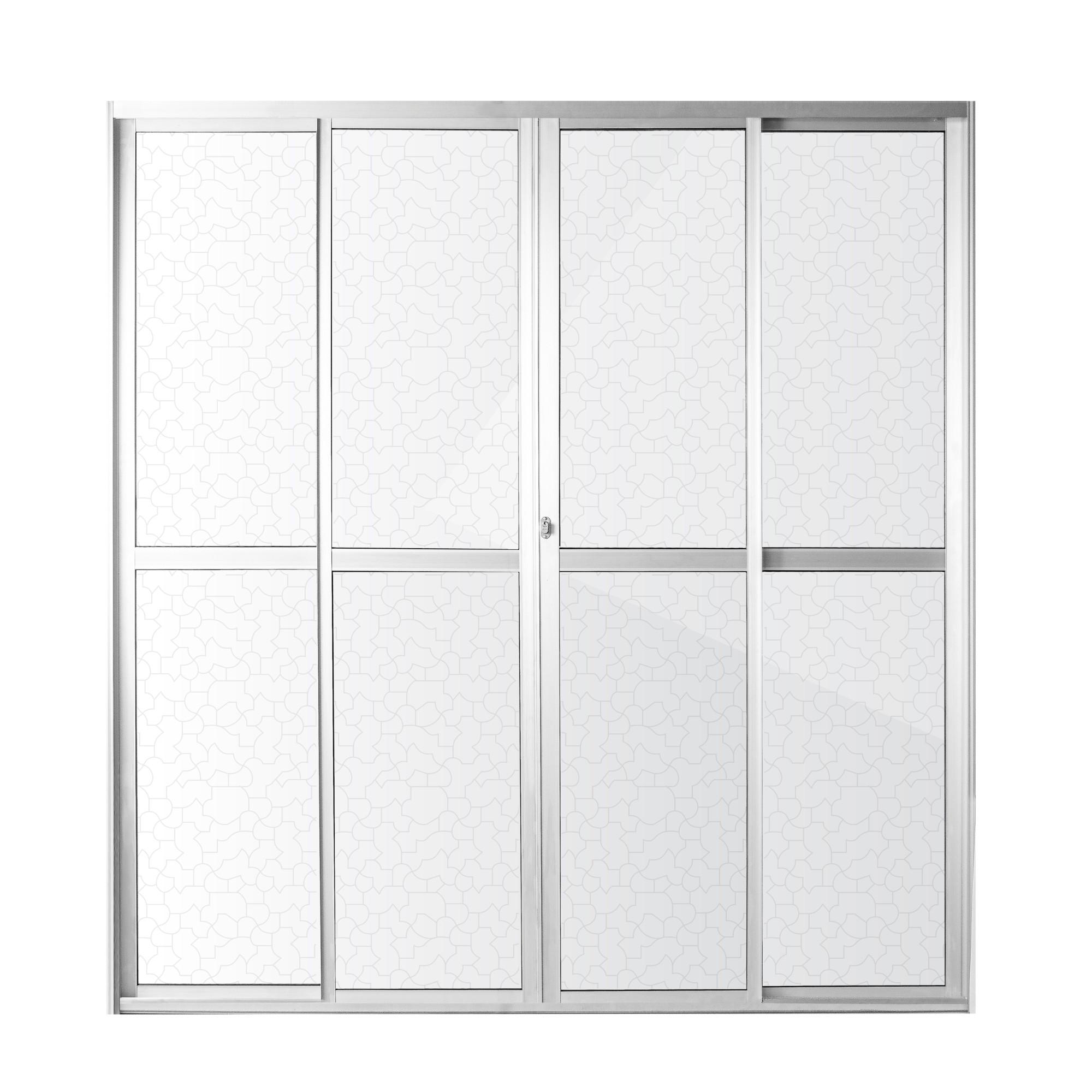 Porta Balcao de Aluminio 4 Folhas 210cm x 200cm Marine Natural - Aluvid