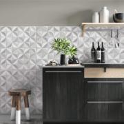 Revestimento cerâmico florida gray na cozinha