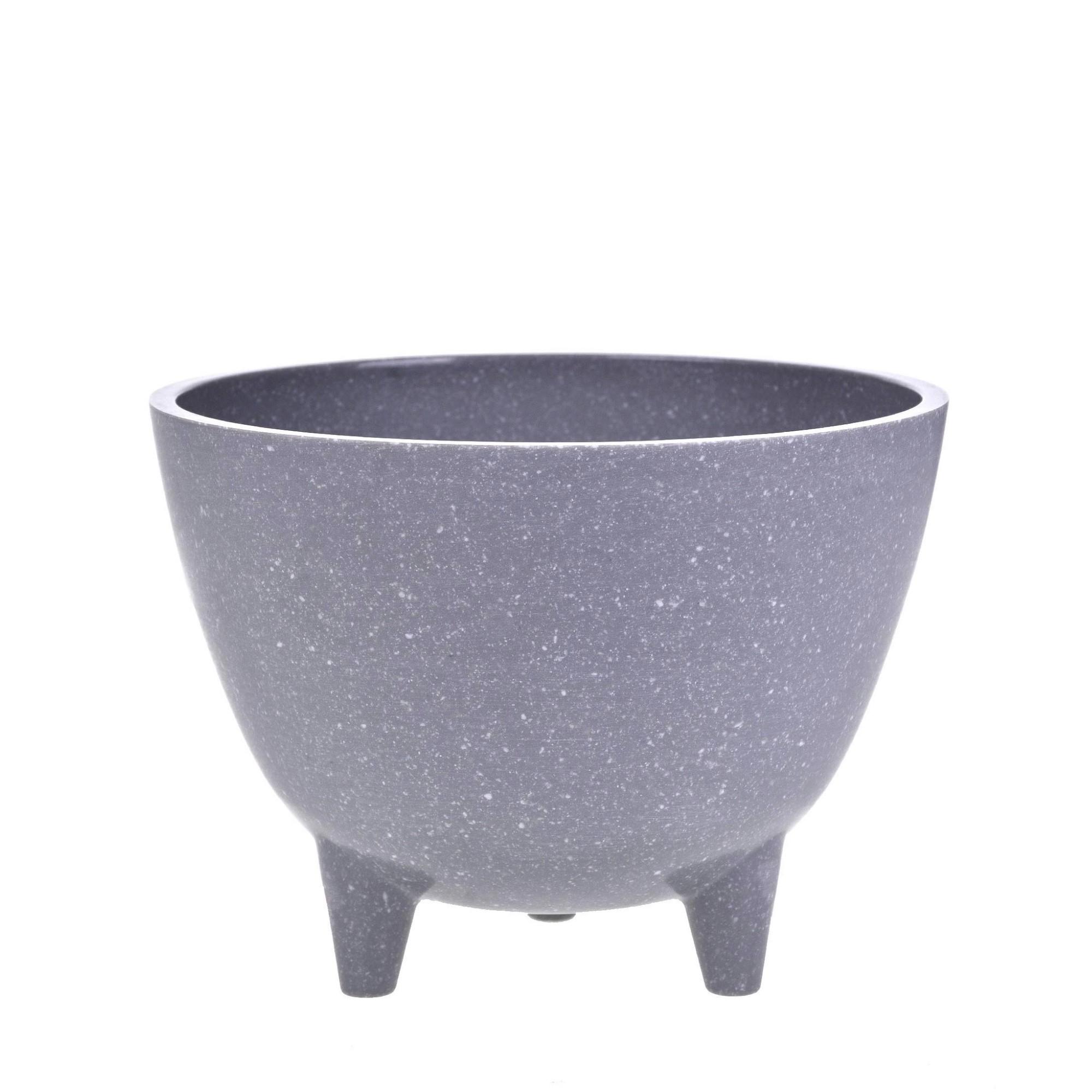 Vaso Decorativo de Melamina 10cm Cinza