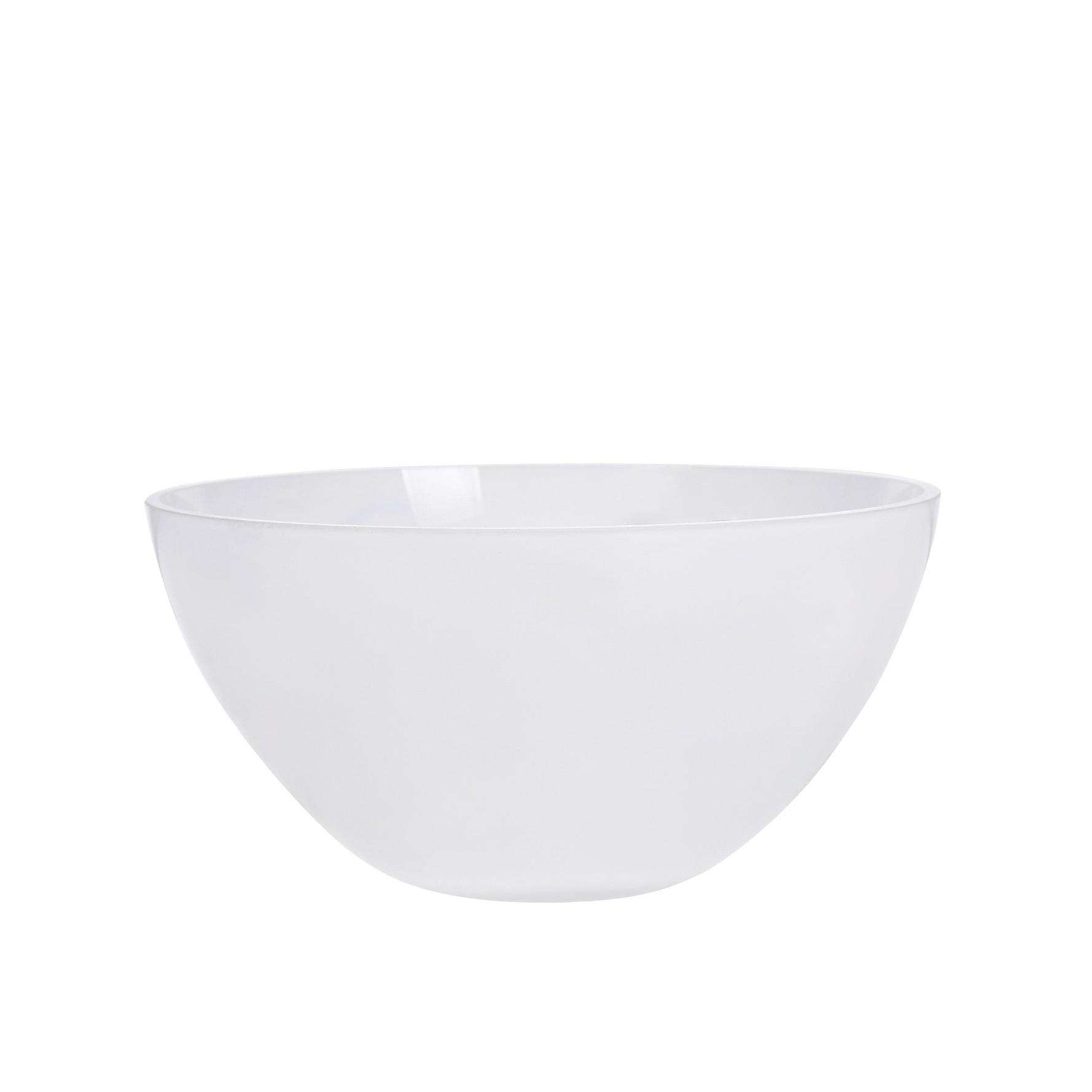 Tigela de Vidro Bowl 16x8 cm Branco - GPresentes