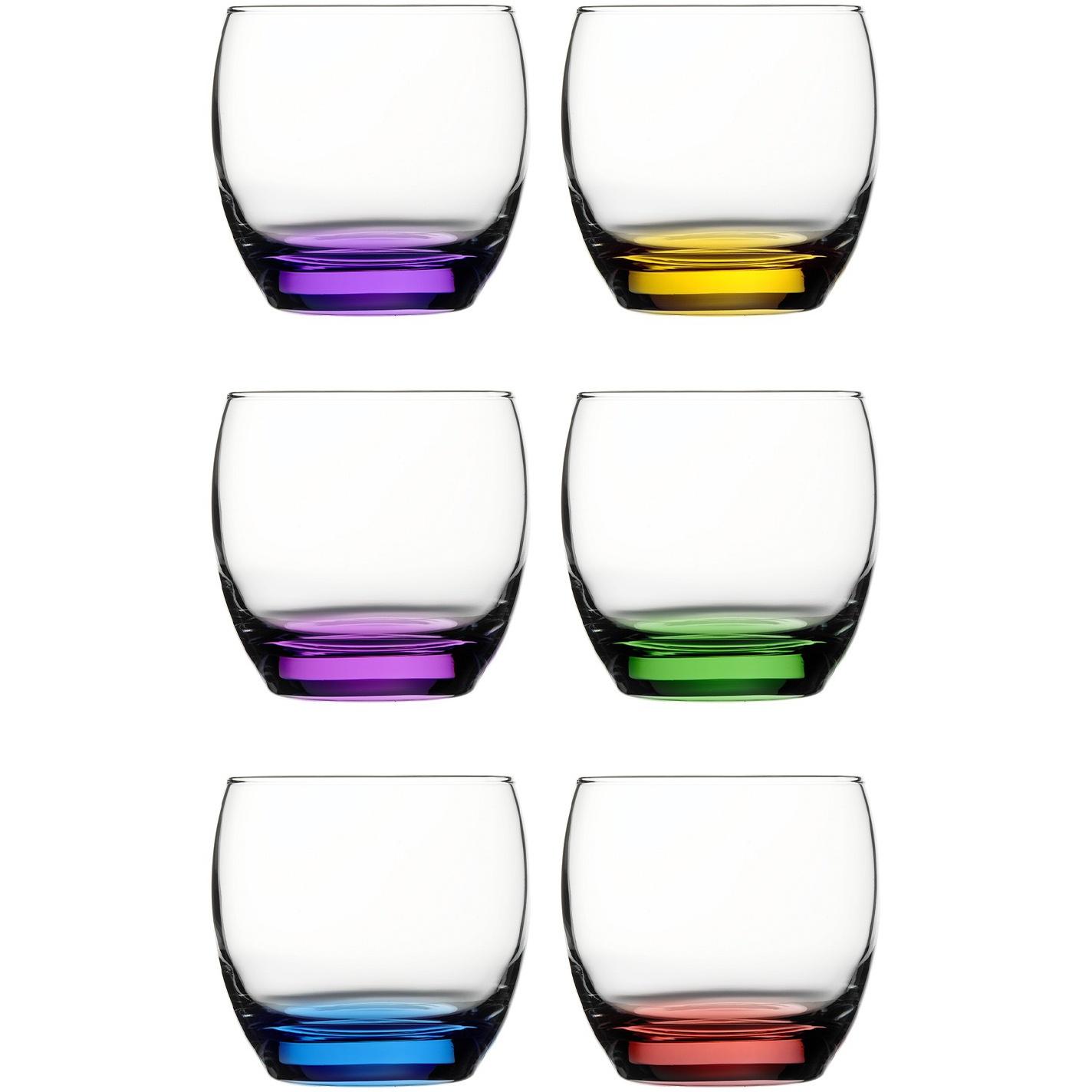 Jogo de Copos de Vidro para Whisky 6 Pecas 340ml - 95731- Mypa