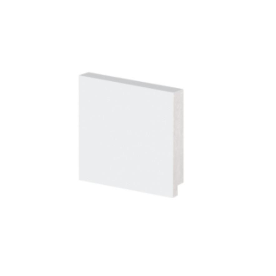 Rodape Alizar 7x240cm Poliestireno Slim Branco 5007 - Arquitech