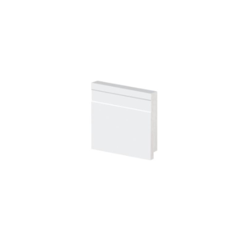 Rodape Alizar 7x240 cm Poliestireno Slim Branco - Arquitech