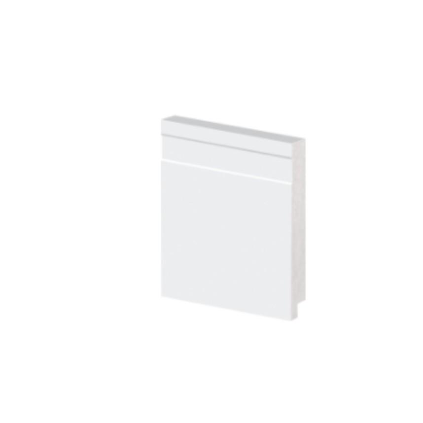 Rodape Alizar 10x240 cm Poliestireno Slim Branco 5110 - Arquitech