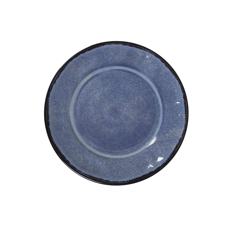 Prato de Sobremesa em Melamina 21cm Azul - Mypa