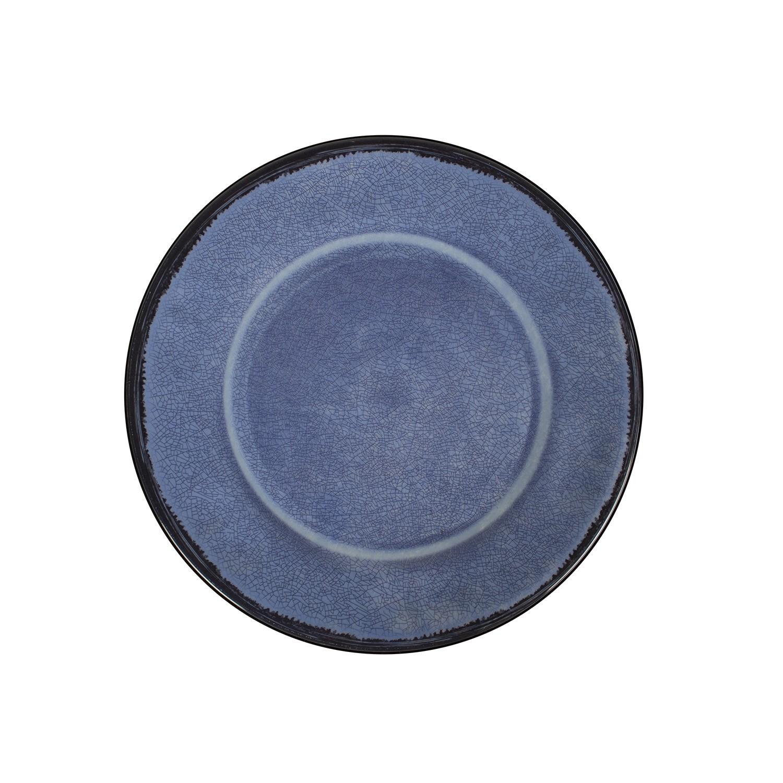 Prato Raso em Melamina 26cm Azul - Mypa