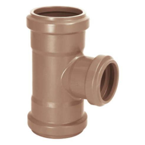Te de Reducao 90 PVC Marrom 85 mm x 60 mm - Amanco