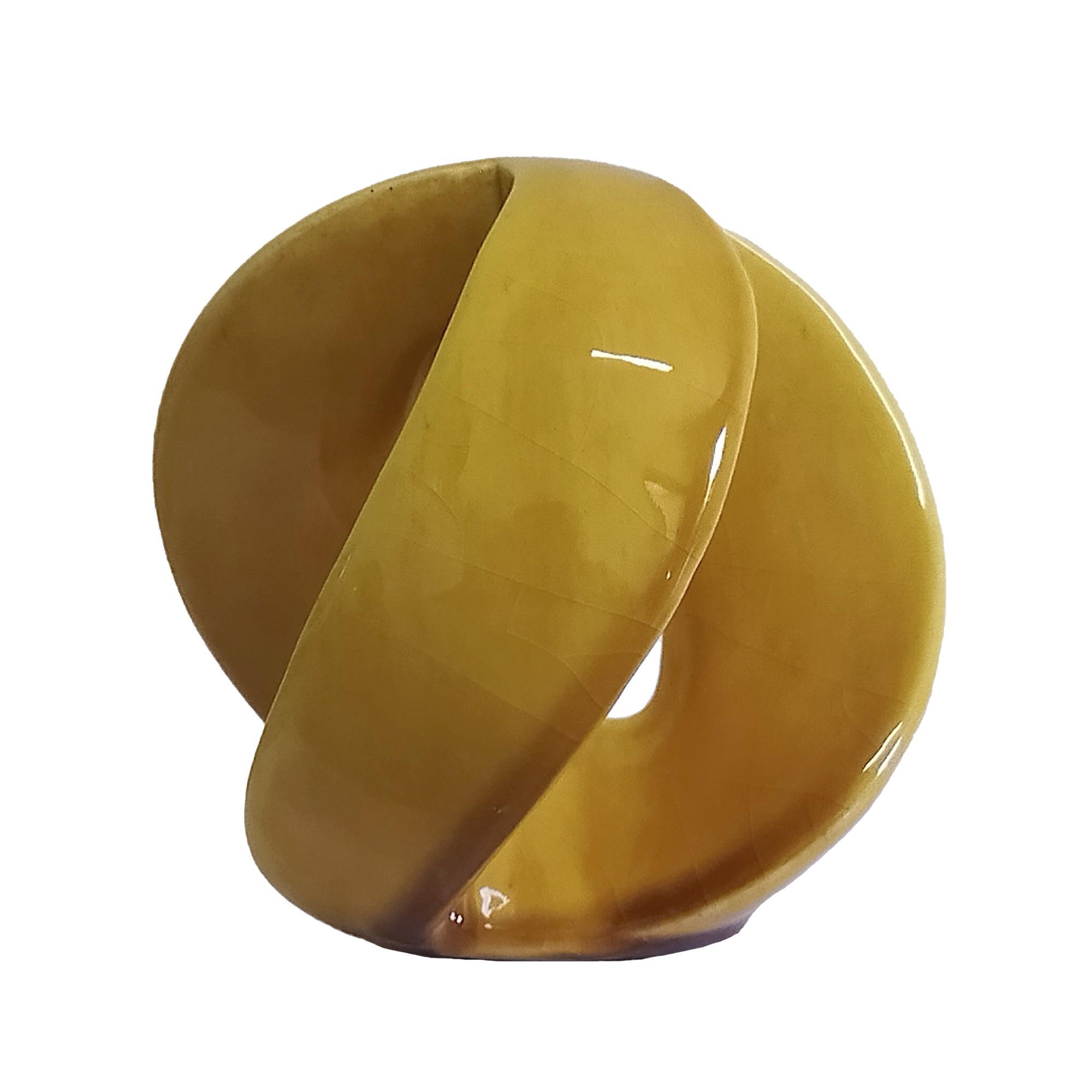 Enfeite Decorativo Esfera Vazada de Ceramica 11cm 359 - Buzzio s