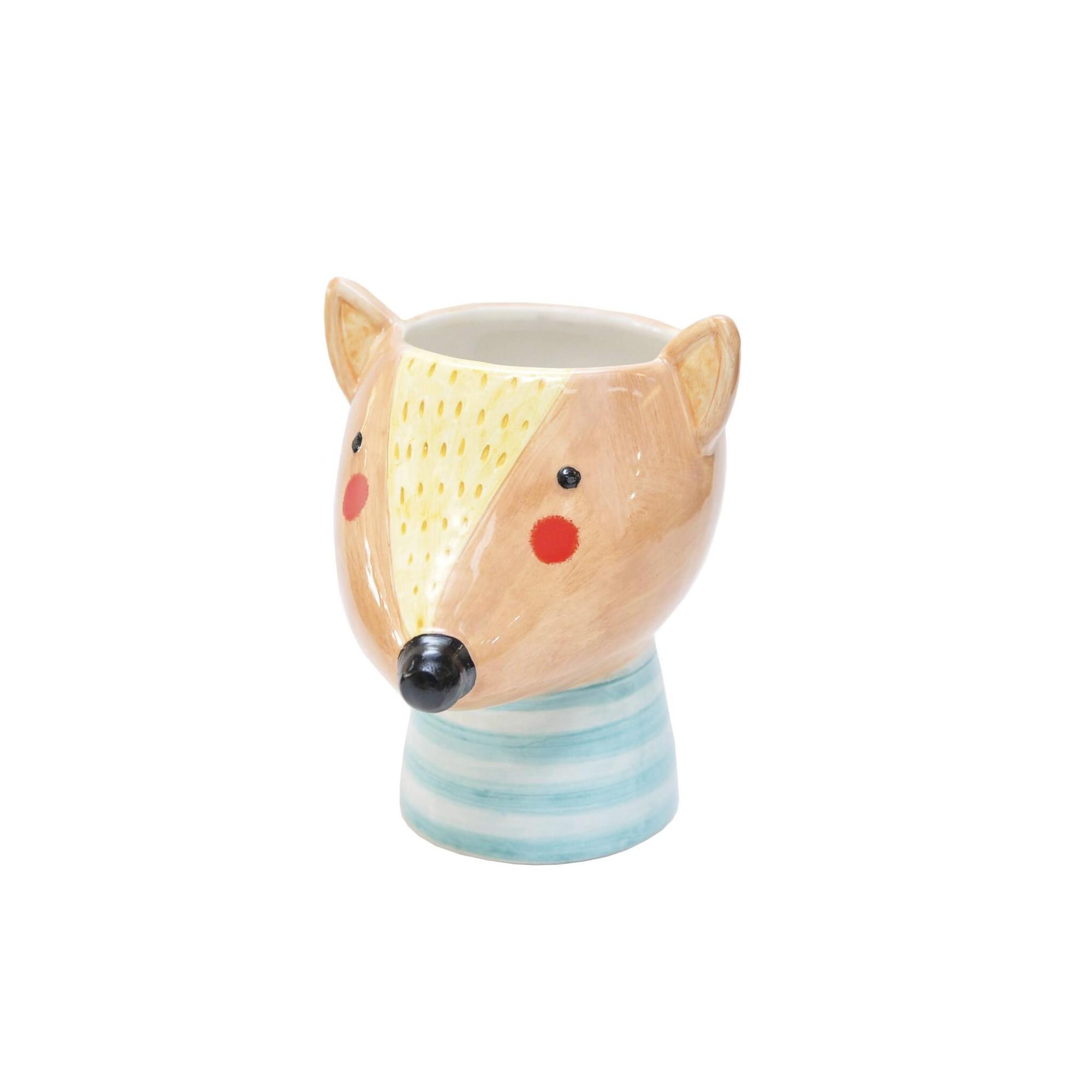 Cachepot de Ceramica Redondo 12cm Tamandua - Bras Continental