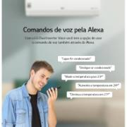 Ar Condicionado Split Inverter LG Voice Artcool 18.000 BTUs 220V - Quente e frio S4NW18KLRPA.EB2GAMZ