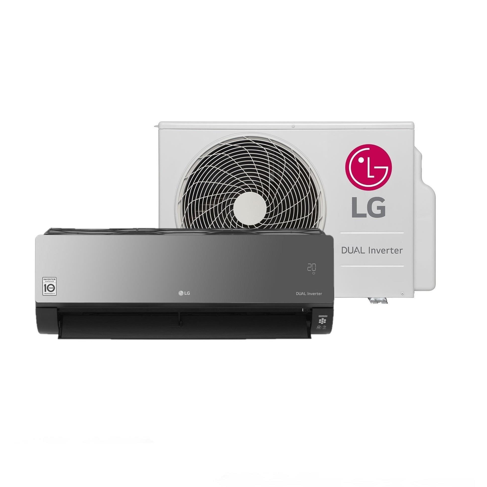 Ar Condicionado Split Inverter LG Artcool 18000 BTUs 220V - Quente e frio S4NW18KLRPAEB2GAMZ