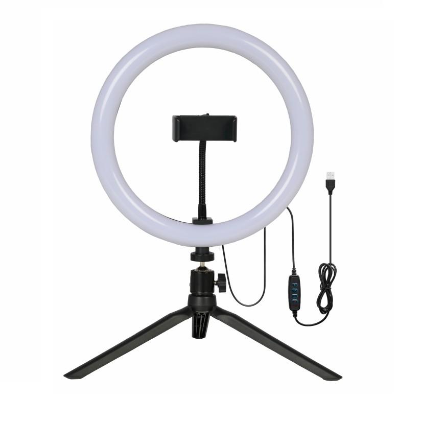Kit Ring Light de Mesa 26cm Glight com Tripe 19cm Preto