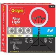 Kit Ring Light 35cm Glight com Tripé 1,60m Grande Pro