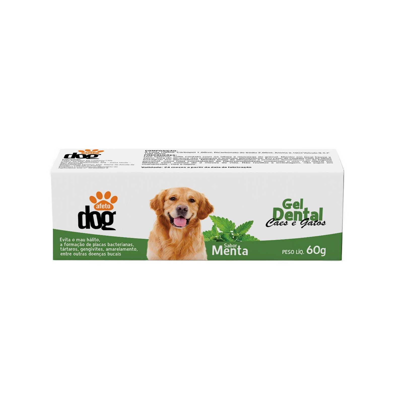 Gel Dental para Caes e Gatos 60g - Afeto Dog