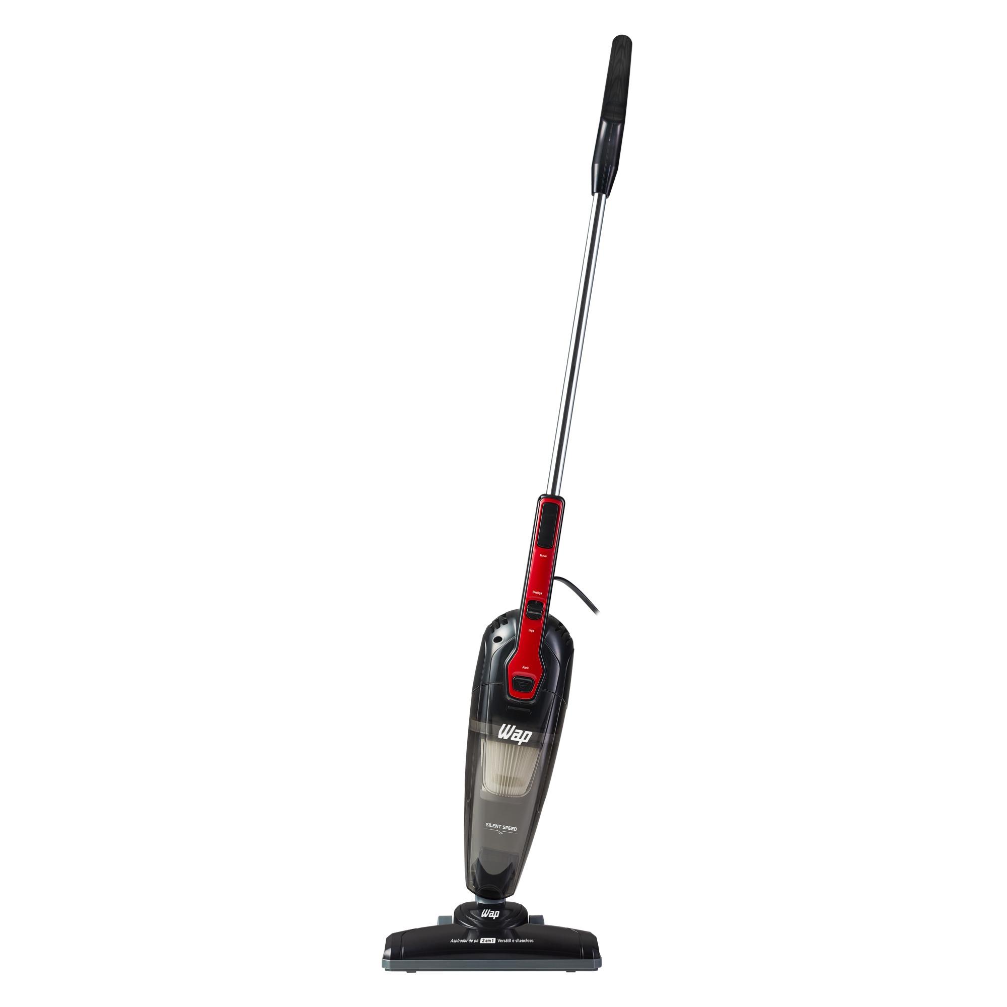 Aspirador de Po Portatil e Vertical 1000W Wap Silent Speed 220V Preto e Vermelho - com Filtro Hepa