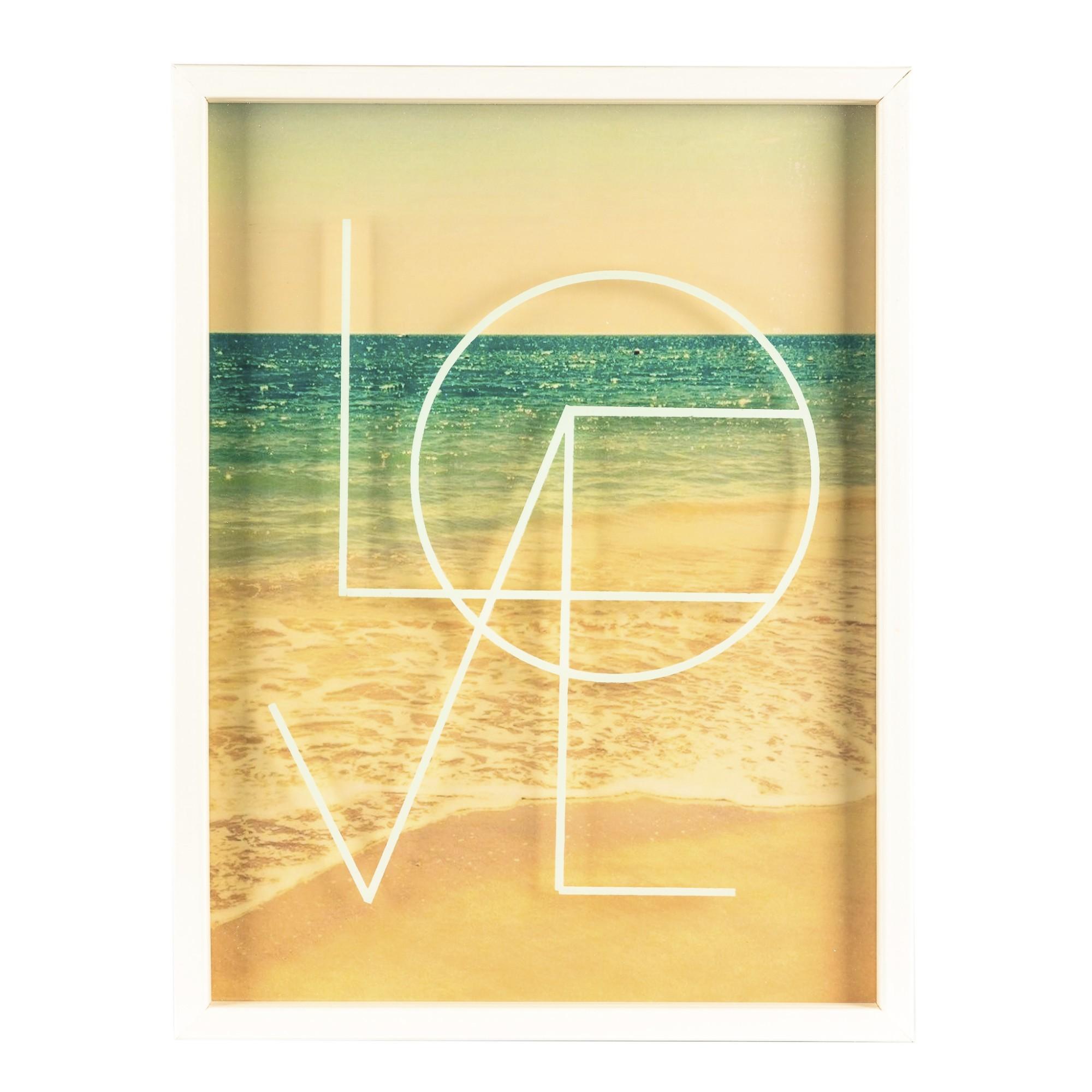 Quadro Decorativo 30x40 cm com Vidro Pintado Love 3341 - Art Frame
