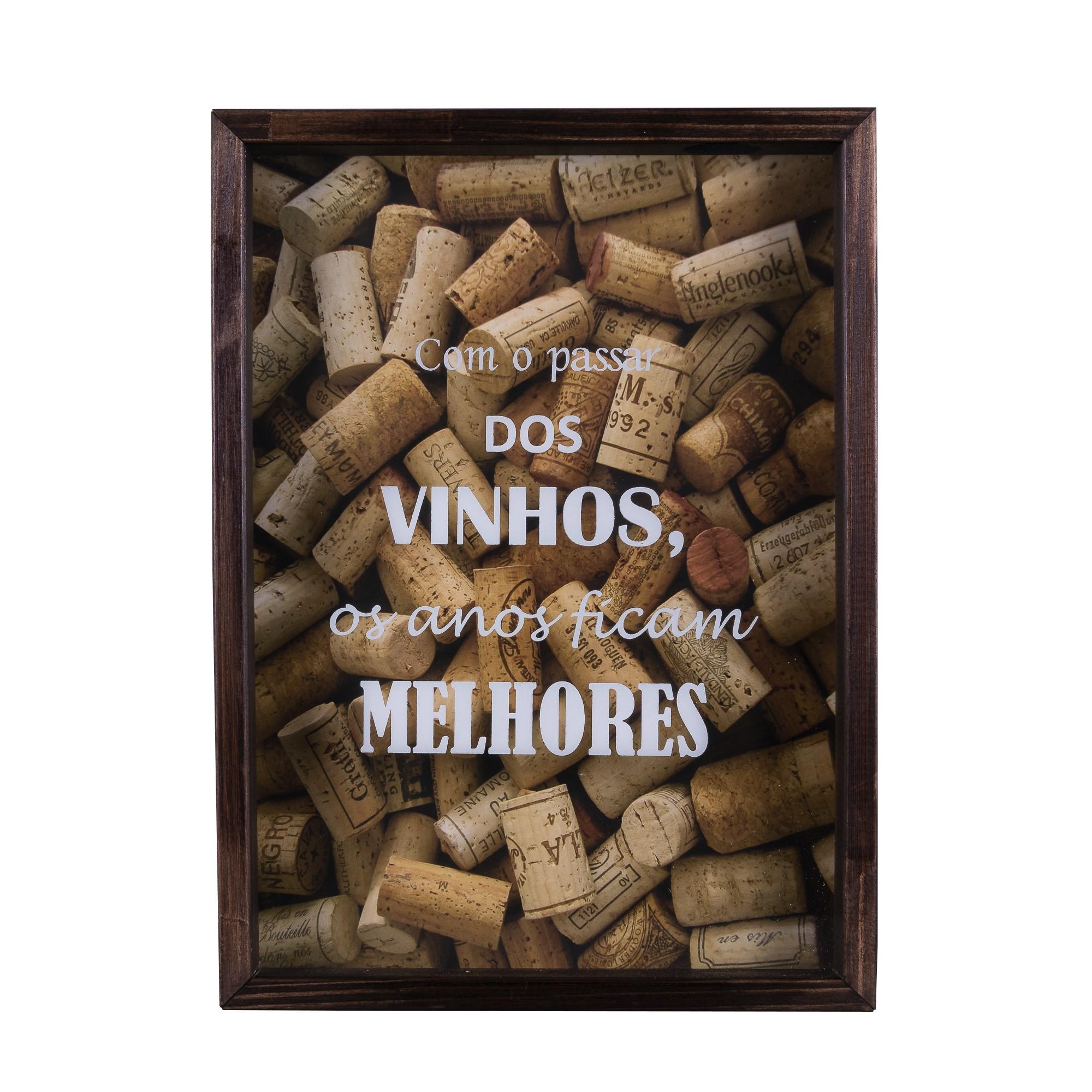 Quadro Decorativo 25x35 cm Porta-Rolha Luxo 7901 - Art Frame