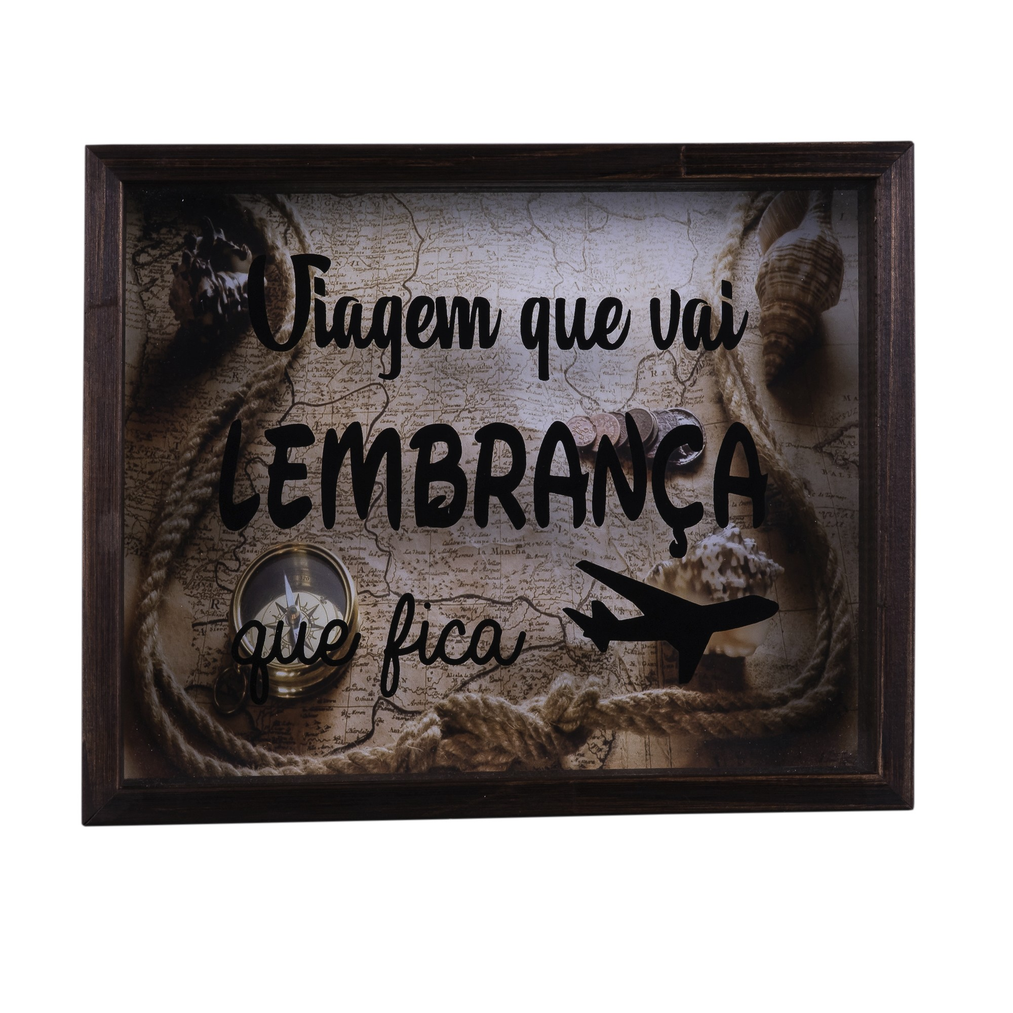 Quadro Decorativo 25x35 cm Porta-Ticket com Vidro 8024 - Art Frame
