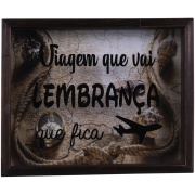 Quadro Decorativo 25x35 cm Porta-Ticket com Vidro 802/4 - Art Frame