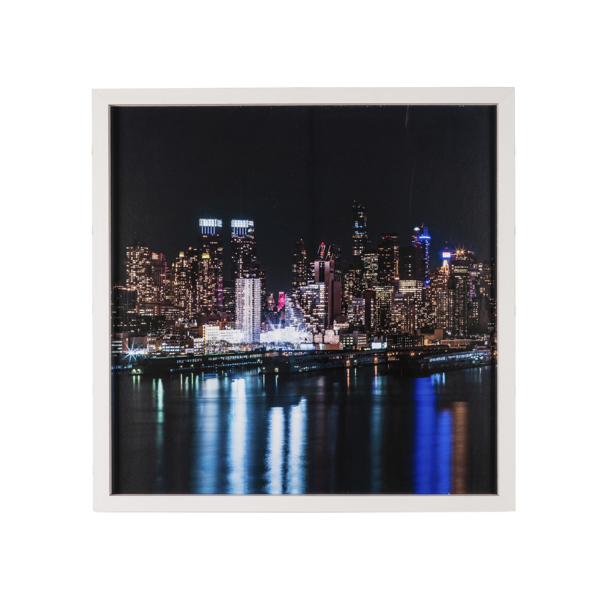 Quadro Decorativo 50x50 cm Trio com Vidro Luxo 25231 - Art Frame