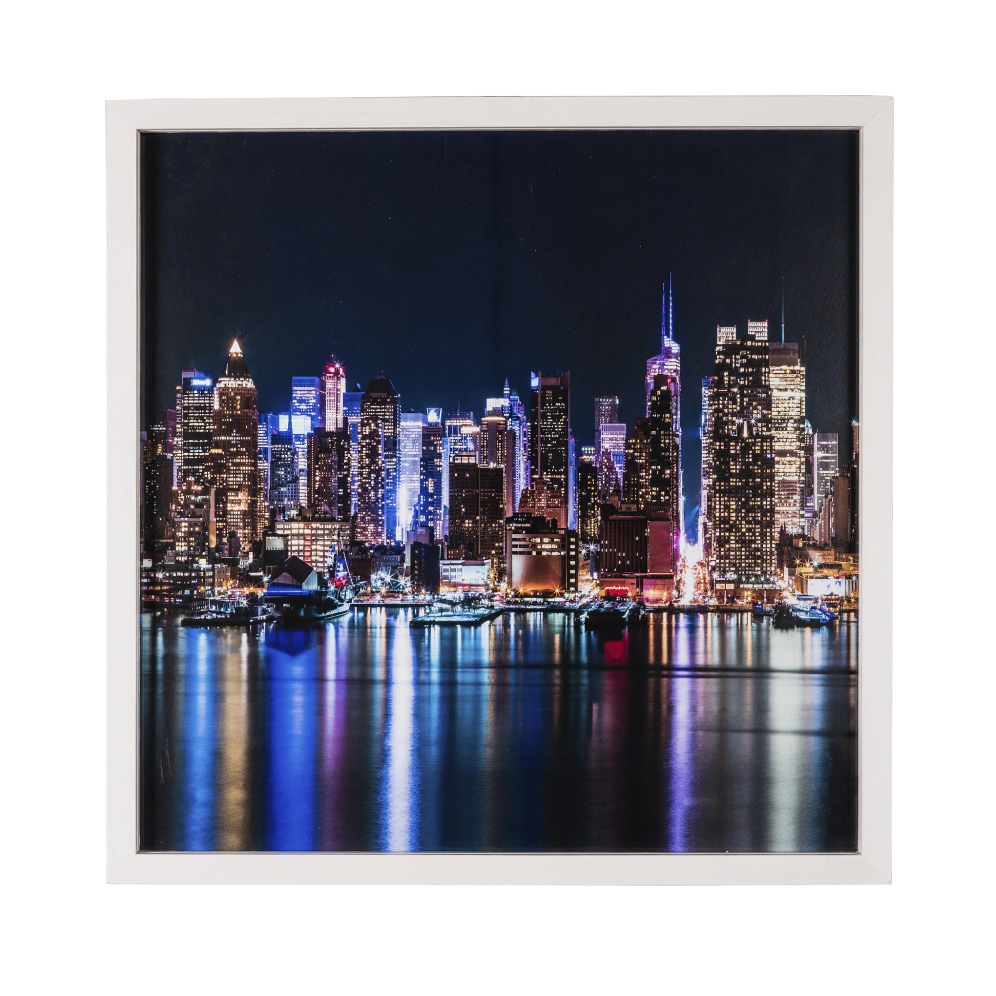 Quadro Decorativo 50x50 cm Trio com Vidro Luxo 25232 - Art Frame