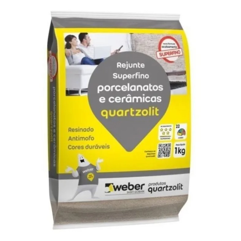 Rejuntamento Superfino para Porcelanatos e Ceramicos - Quartzolit