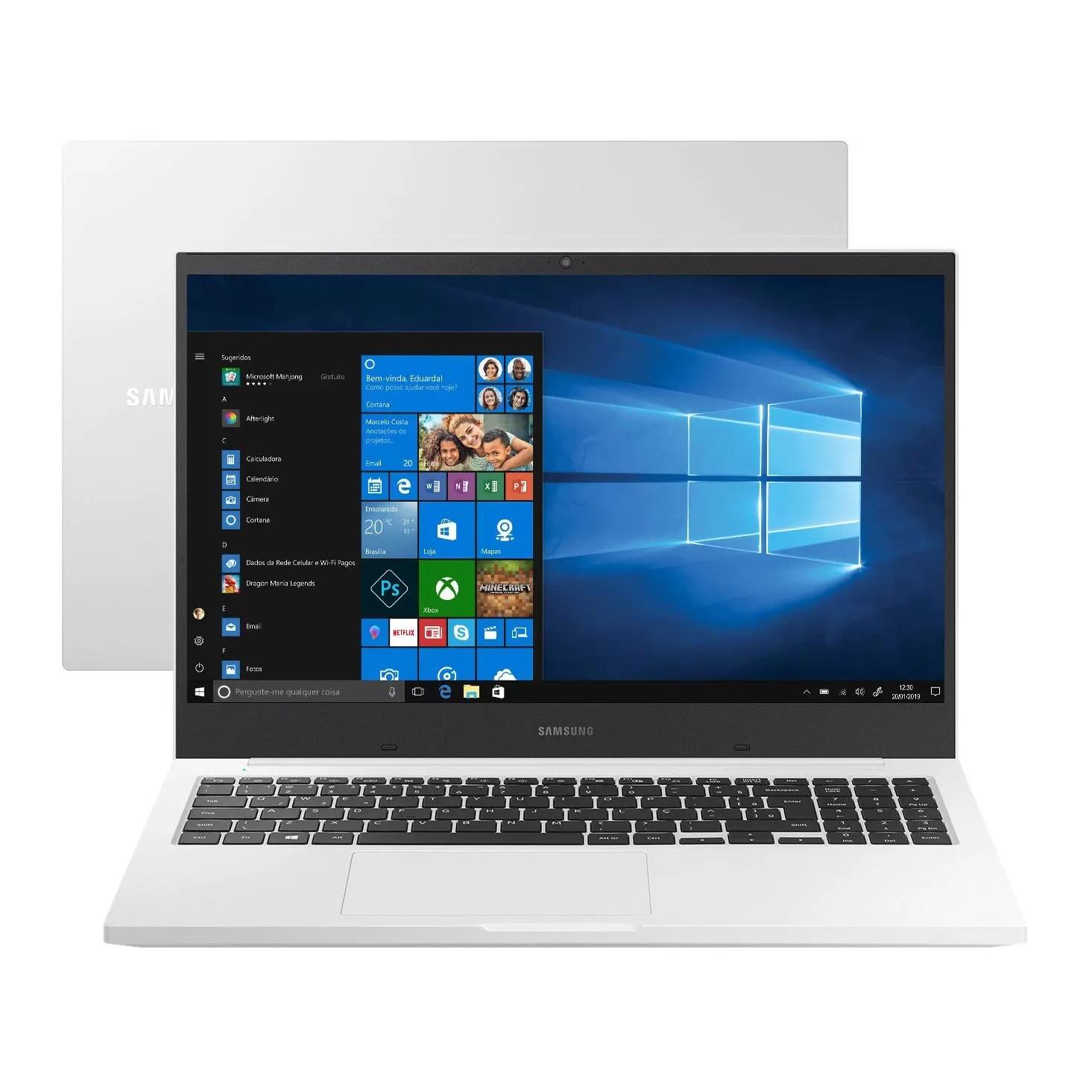 Notebook Samsung 4GB 500GB 156 Windows 10 Home Branco