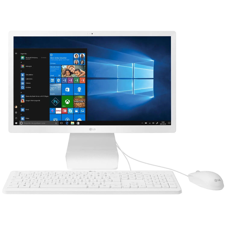 Computador LG All In One 4GB Windows 10 Tela 215 Wi-Fi Smart Dual Band - 22V280-LBY31P1