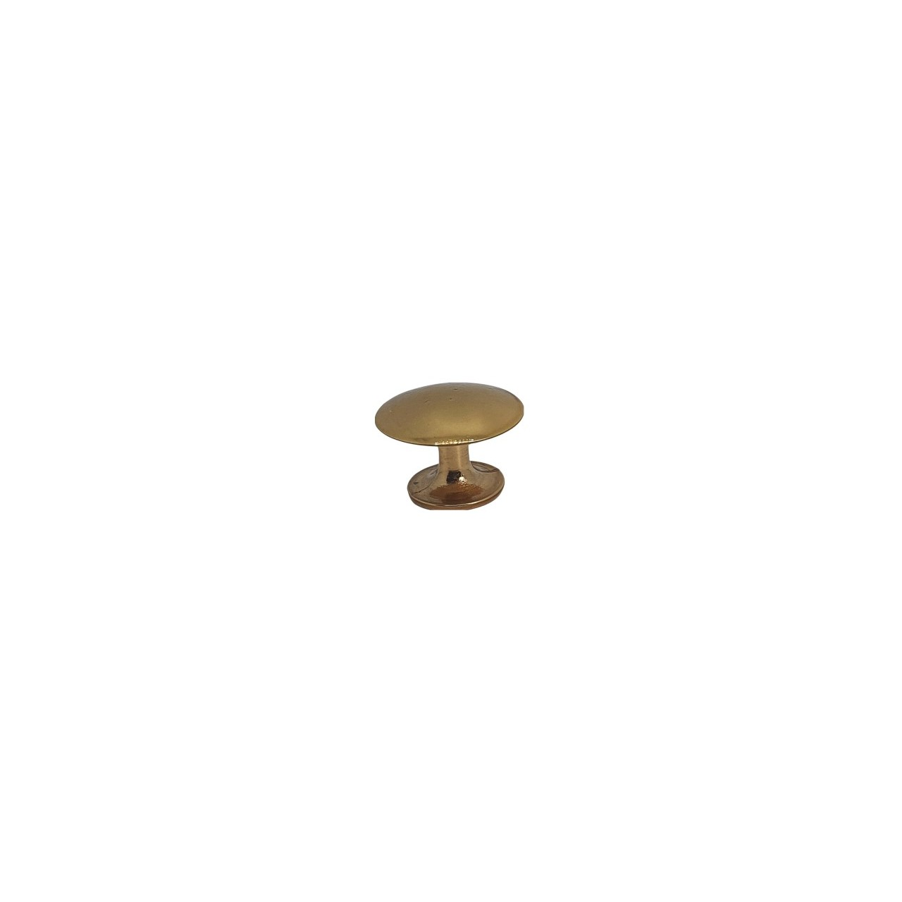 Puxador Kids Cogumelo 25mm Zamac Dourado - Hastvel