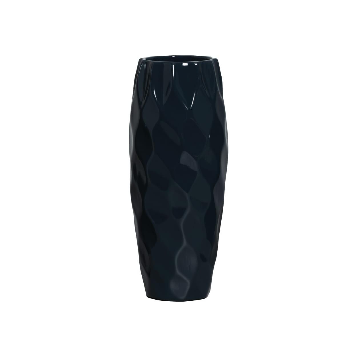 Vaso Decorativo 30cm Stone 30cm Azul - Ana Maria