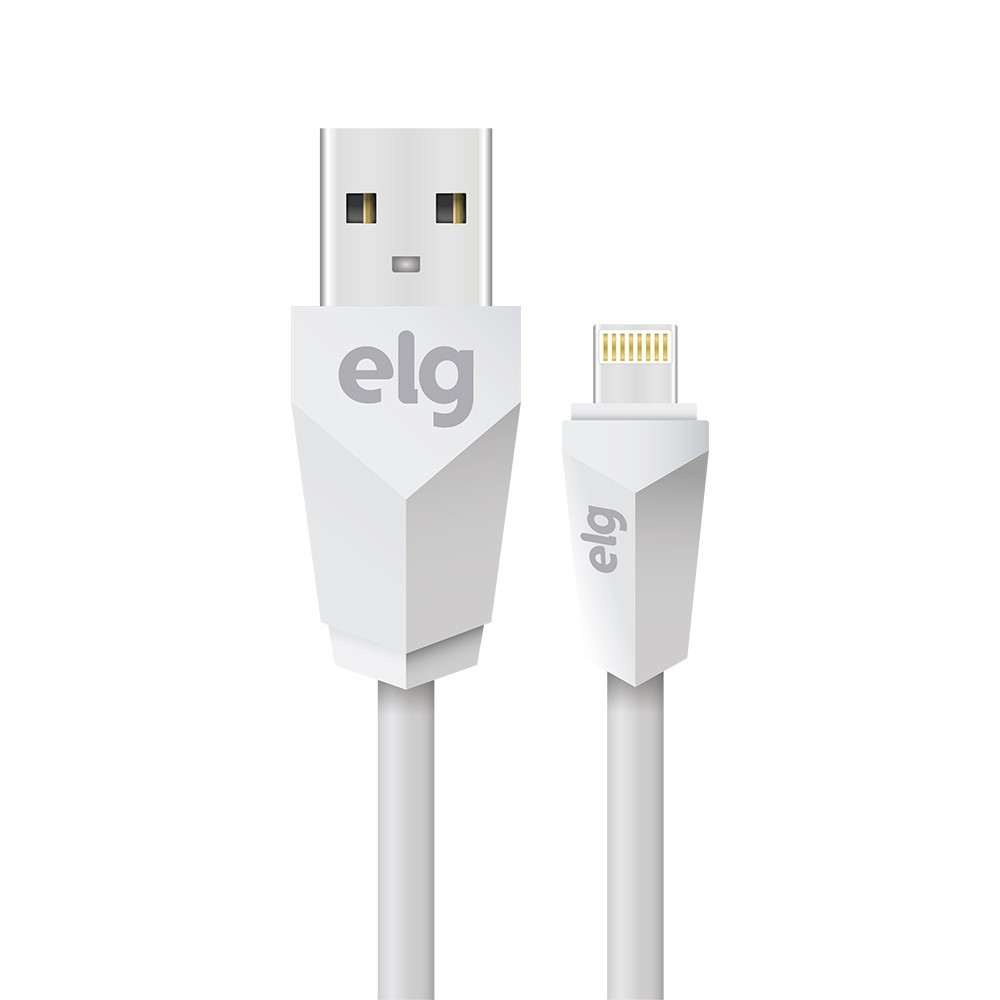 Cabo USB Lightning para IphoneIpad Branco - L820 - Elg