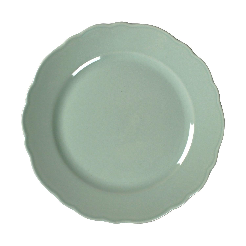 Prato Raso em Ceramica 26cm Verde - Mypa