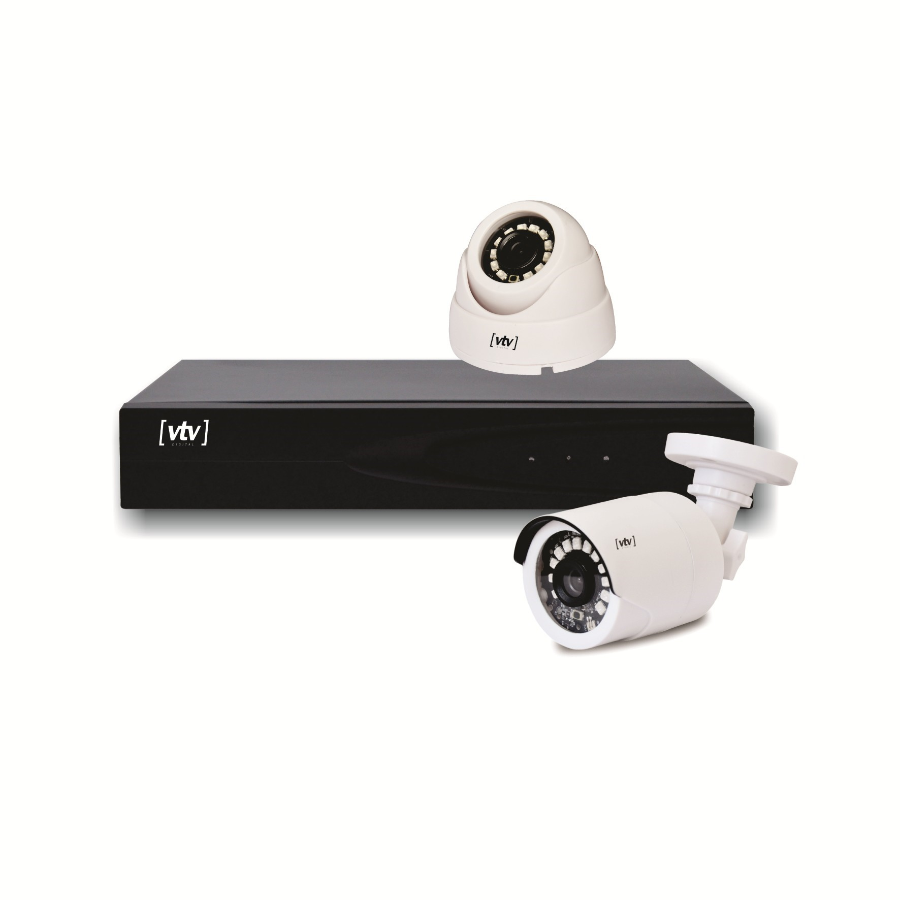 Kit 2 Cameras de Seguranca Full HD DVR 4 Canais - VTV