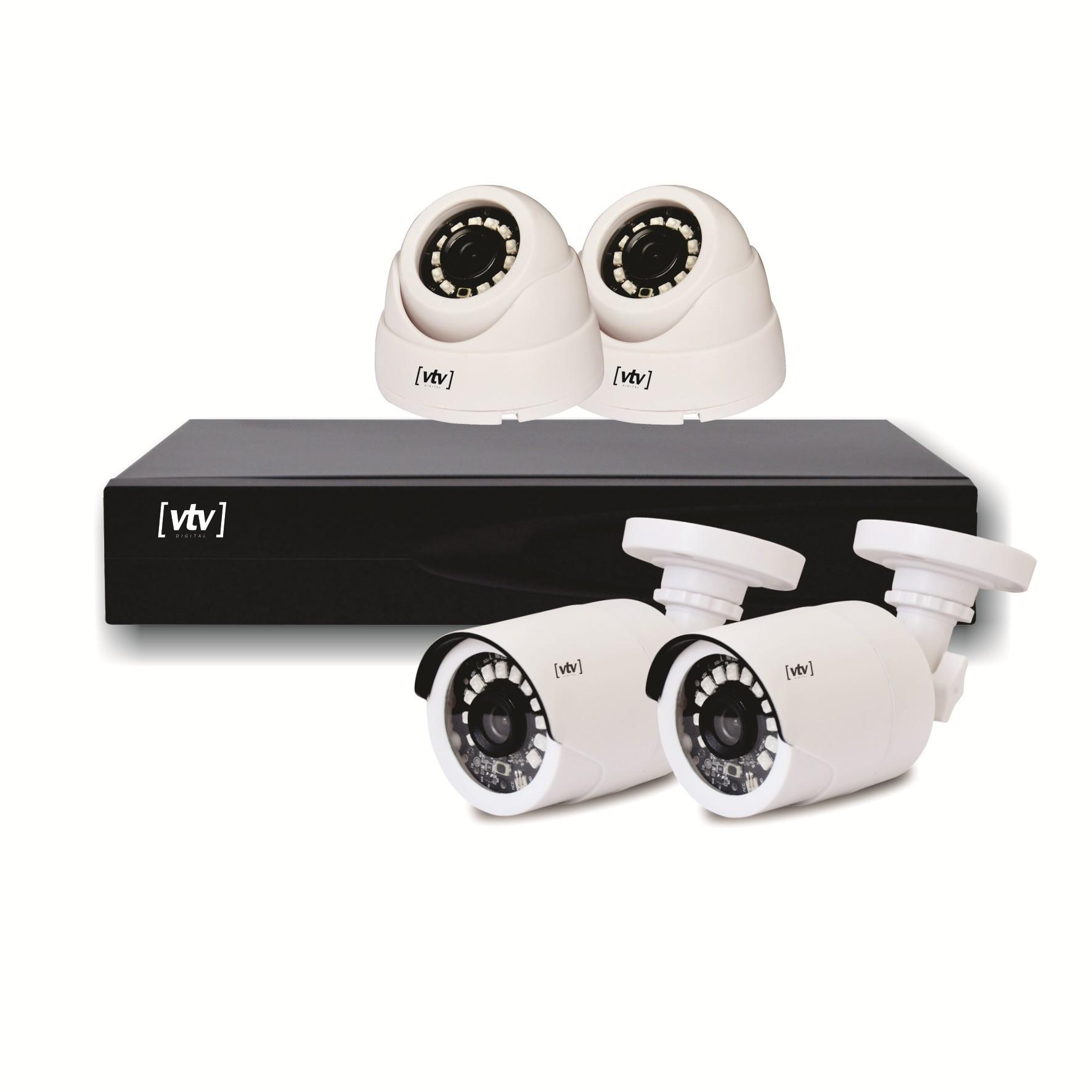 Kit 4 Cameras de Seguranca Full HD DVR Canais - VTV