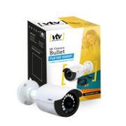 Câmera de Segurança Bullet Branca + Cabo Full HD 1080P IP66 - VTV