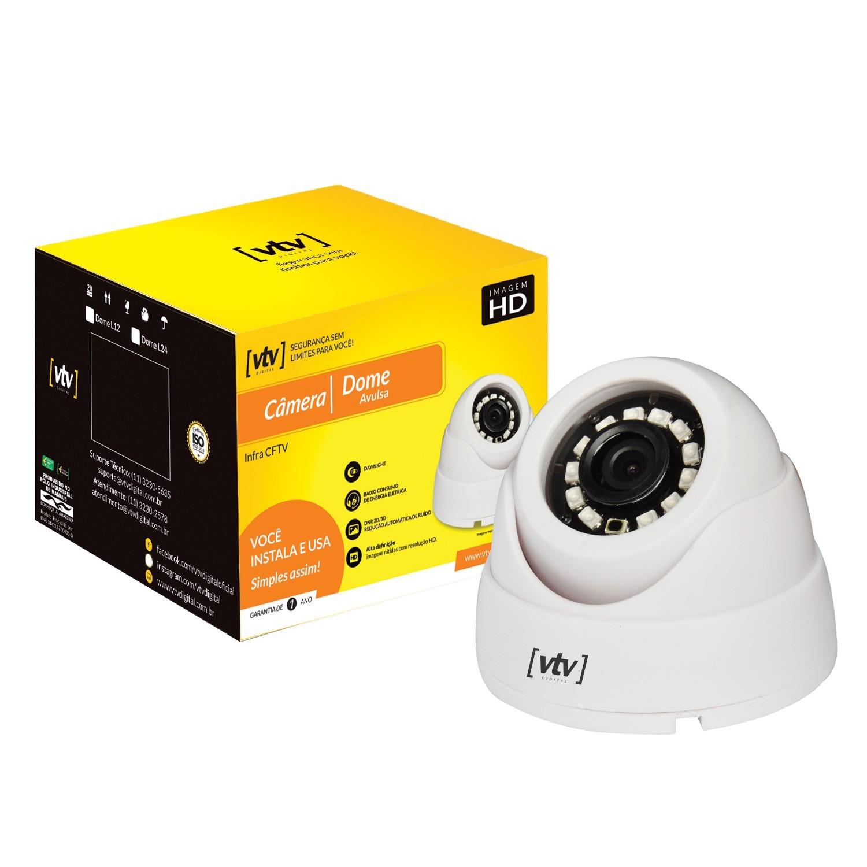 Camera de Seguranca Dome Branca Full HD 1080P IP65 - VTV