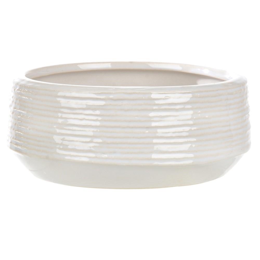 Vaso Decorativo de Ceramica 75 cm Branco - Dea